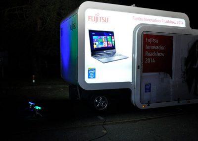 Fujitsu Roadshow bei Nacht